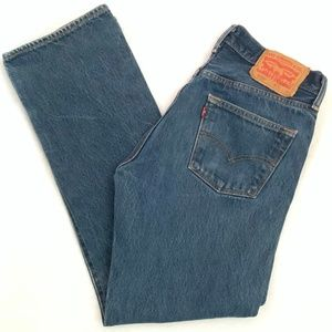 LEVI'S 501Button Fly High Waisted Jeans